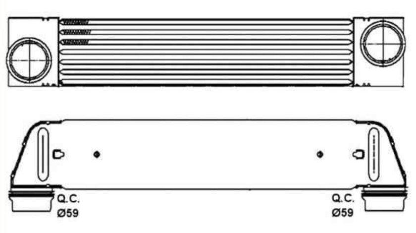 Radiator intercooler BMW Seria 5 (E60) NRF 30317