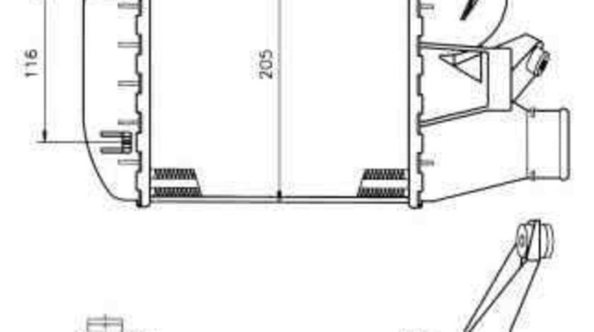 Radiator intercooler BMW Seria 5 Touring (E39) NRF 30121