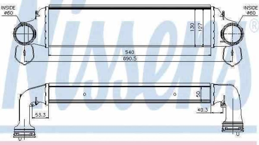 Radiator intercooler BMW X3 E83 NISSENS 96723