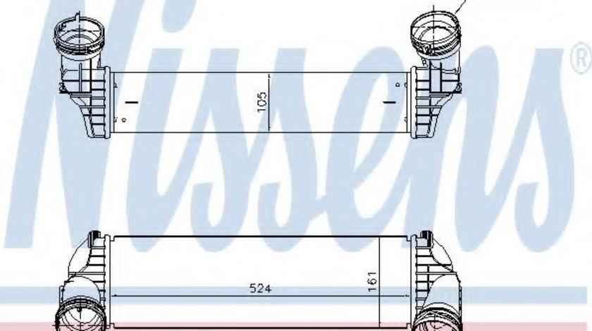Radiator intercooler BMW X6 (F16, F86) (2014 - 2016) NISSENS 96364 produs NOU