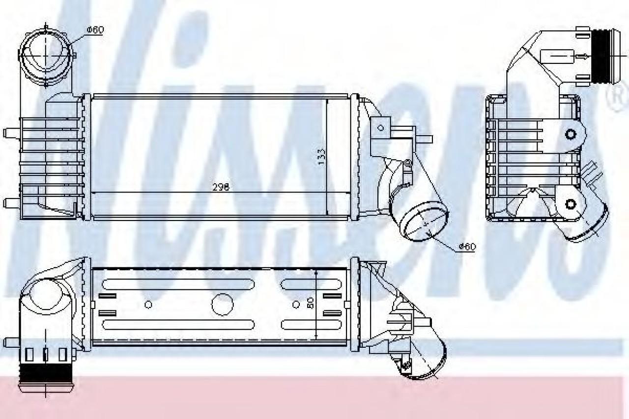 Radiator intercooler CITROEN C5 I Estate (DE) (2001 - 2004) NISSENS 96765 produs NOU