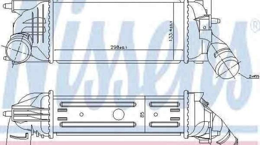 Radiator intercooler Citroen C5 II (RC_) NISSENS 96719