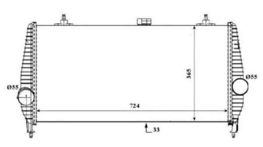 Radiator intercooler Citroen C5 II (RC_) NRF 30194