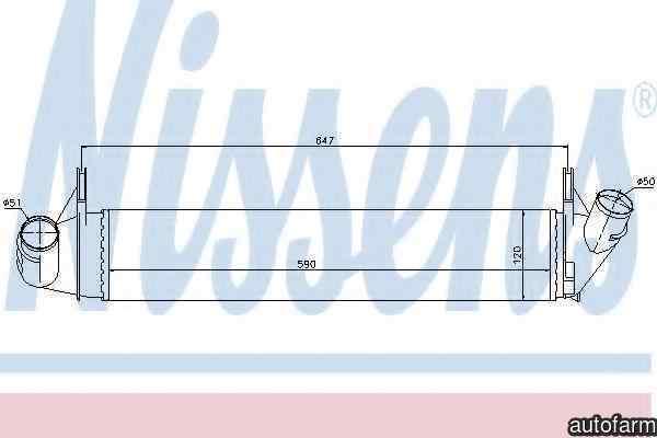 Radiator intercooler DACIA LOGAN EXPRESS FS Producator NISSENS 96585