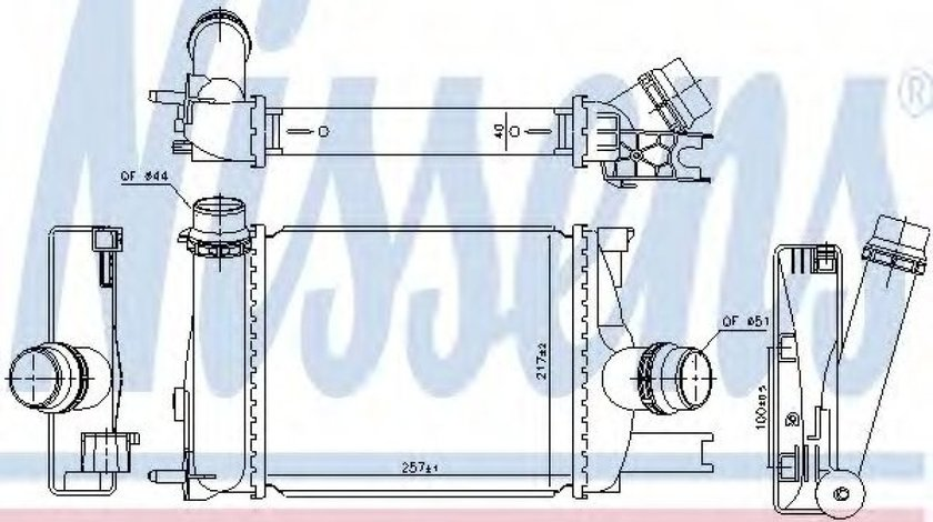 Radiator intercooler DACIA LOGAN II (2012 - 2016) NISSENS 96328 produs NOU