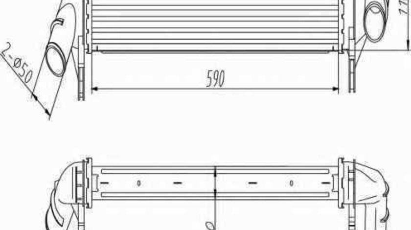 Radiator intercooler DACIA LOGAN MCV KS NRF 30255