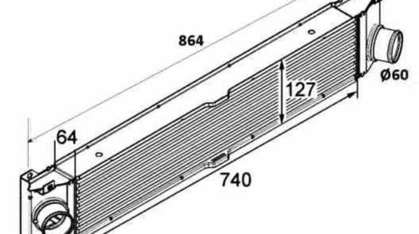 Radiator intercooler FIAT DUCATO platou / sasiu 250 NRF 30798