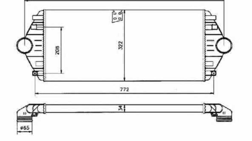 Radiator intercooler FIAT SCUDO Combinato 220P NRF 30803
