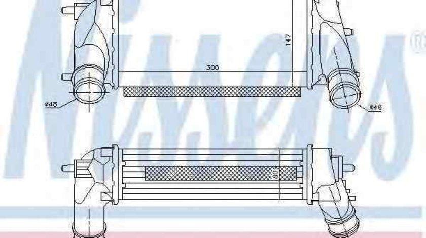 Radiator intercooler FORD B-MAX NISSENS 96498