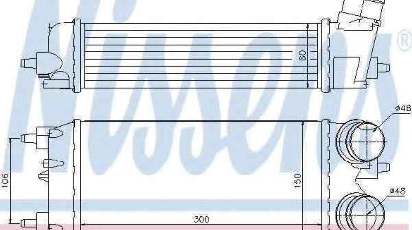 Radiator intercooler FORD B-MAX NISSENS 96553
