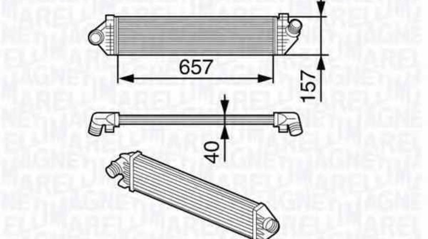 Radiator intercooler FORD C-MAX DM2 MAGNETI MARELLI 351319202050