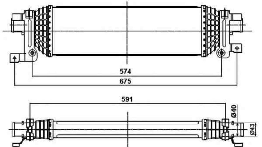 Radiator intercooler FORD FIESTA V (JH_, JD_) NRF 30285