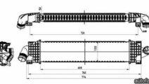 Radiator intercooler FORD KUGA I NRF 30870