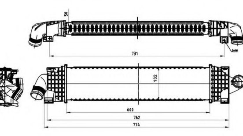 Radiator intercooler FORD MONDEO IV Limuzina (BA7) (2007 - 2016) NRF 30870 produs NOU