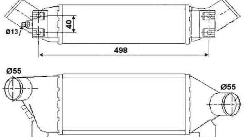 Radiator intercooler FORD TRANSIT bus (FD_ _, FB_ _, FS_ _, FZ_ _, FC_ _) NRF 30259