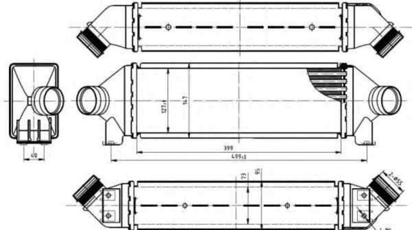 Radiator intercooler FORD TRANSIT bus (FD_ _, FB_ _, FS_ _, FZ_ _, FC_ _) NRF 30887