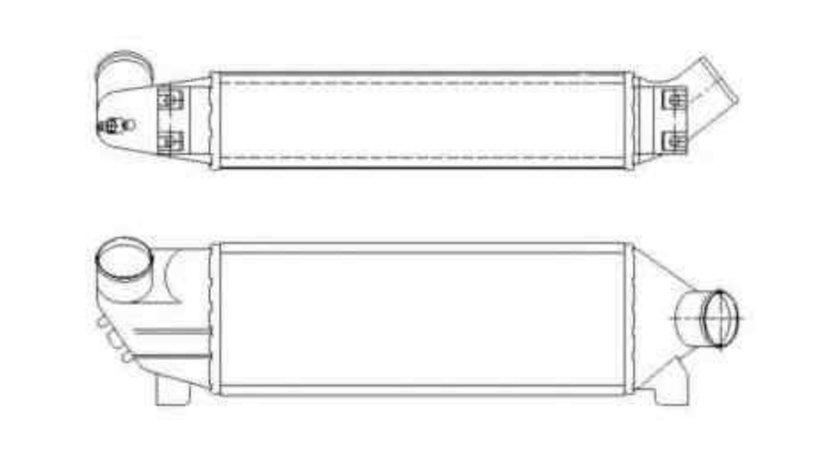 Radiator intercooler FORD TRANSIT bus (FD_ _, FB_ _, FS_ _, FZ_ _, FC_ _) NRF 30886