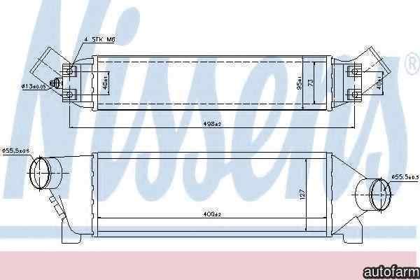 Radiator intercooler FORD TRANSIT bus FD FB FS FZ FC NISSENS 96642
