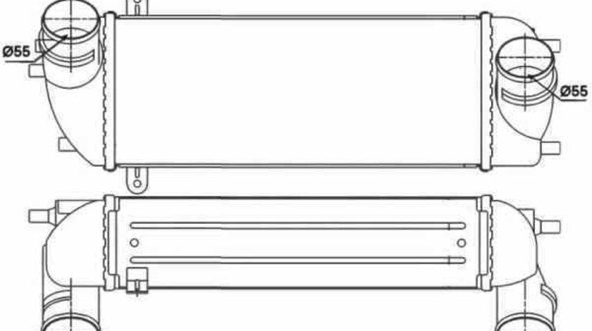 Radiator intercooler HYUNDAI SANTA FÉ II CM NRF 30338