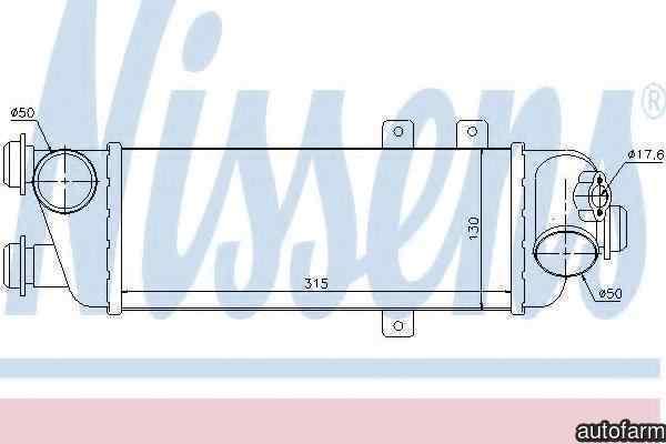 Radiator intercooler KIA CEE'D hatchback ED Producator NISSENS 96562
