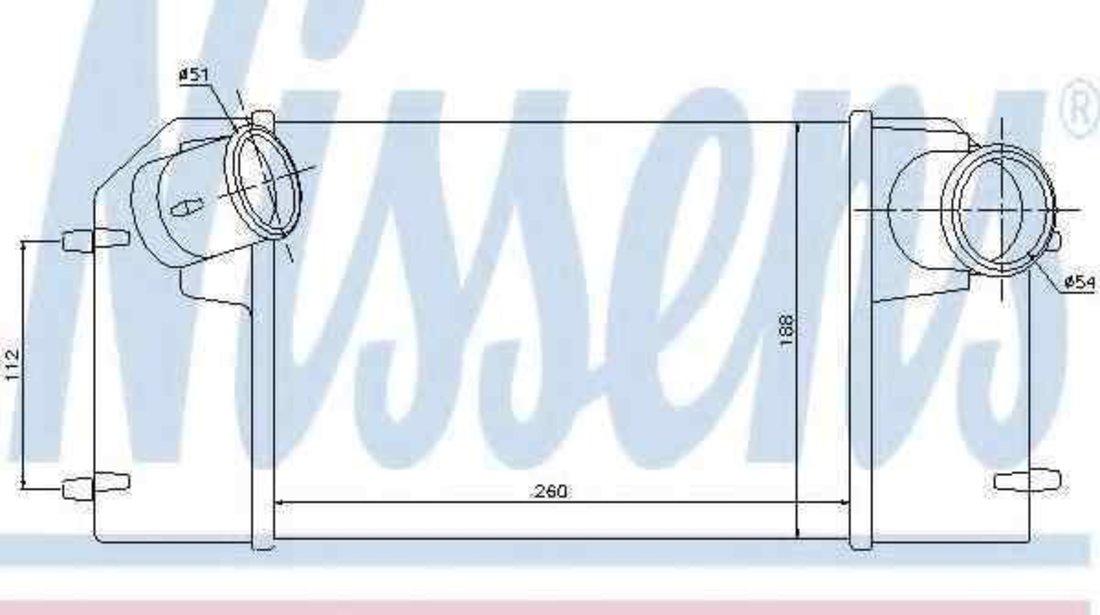 Radiator intercooler LAND ROVER DEFENDER Cabrio (LD) NISSENS 96489