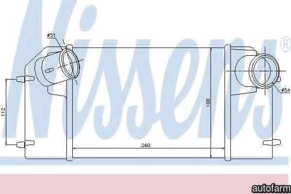 Radiator intercooler LAND ROVER DISCOVERY I (LJ, LG) NISSENS 96489
