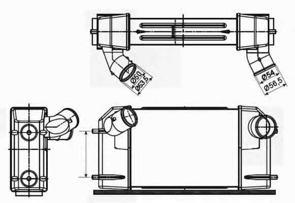 Radiator intercooler LAND ROVER DISCOVERY I (LJ, LG) NRF 30355