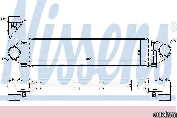 Radiator intercooler LAND ROVER RANGE ROVER EVOQUE LV NISSENS 96561