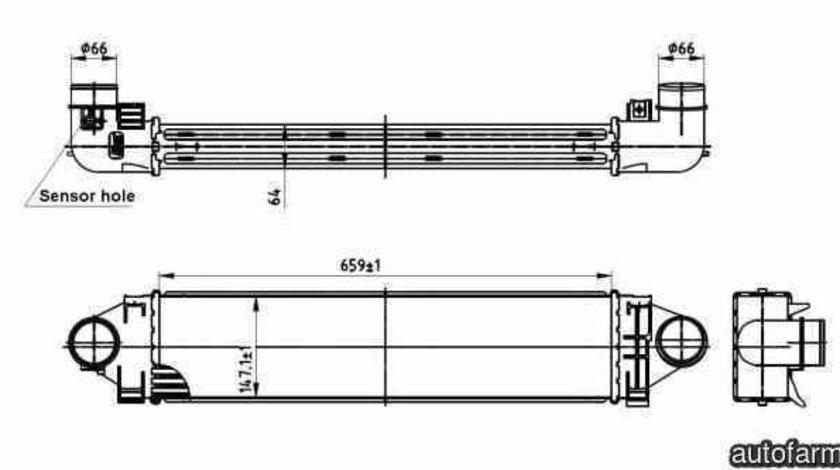 Radiator intercooler LAND ROVER RANGE ROVER EVOQUE LV NRF 30304