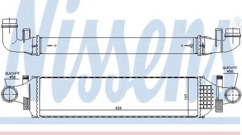 Radiator intercooler MERCEDES A-CLASS (W176) (2012 - 2016) NISSENS 96335 - produs NOU