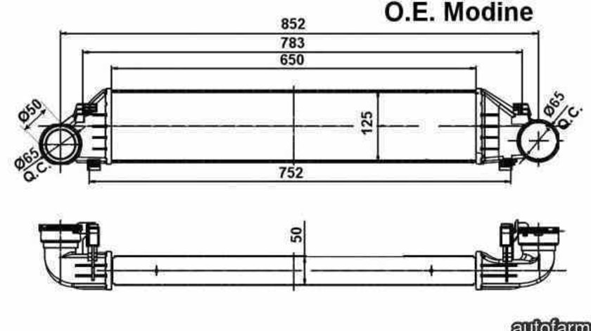 Radiator intercooler MERCEDES-BENZ C-CLASS cupe CL203 NRF 30161