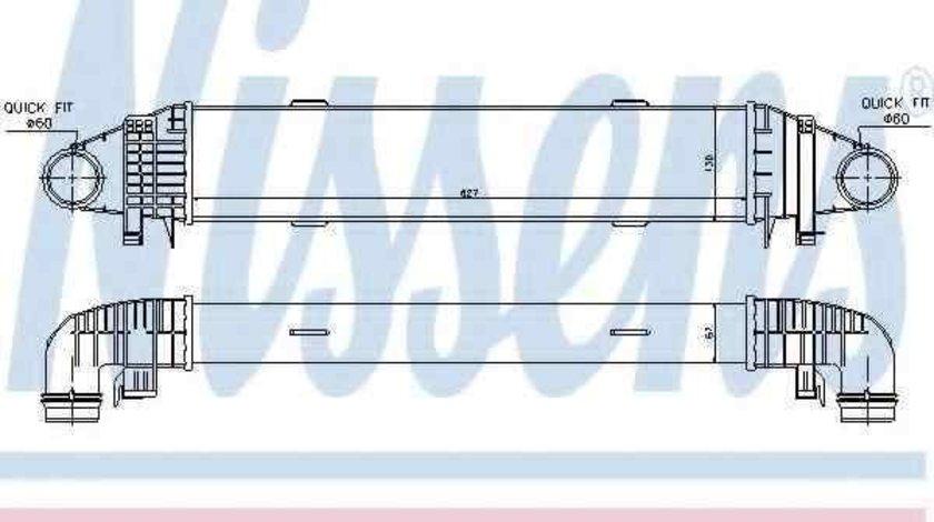 Radiator intercooler MERCEDES-BENZ C-CLASS (W204) NISSENS 96598