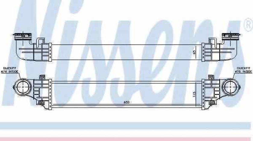 Radiator intercooler MERCEDES-BENZ E-CLASS W211 NISSENS 96785