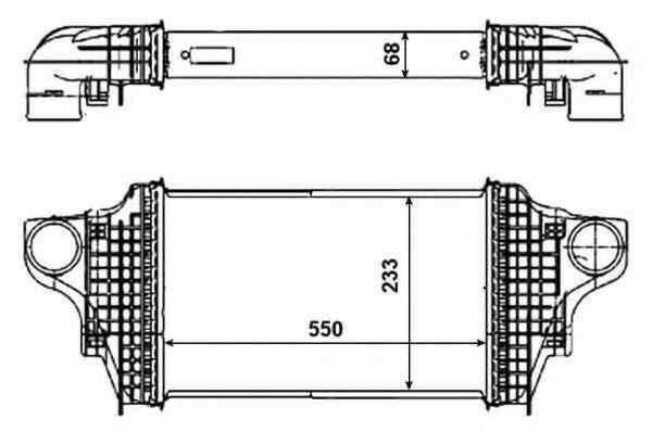Radiator intercooler MERCEDES-BENZ M-CLASS W164 NRF 30464
