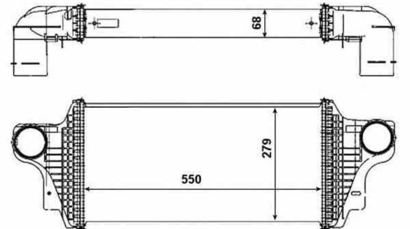 Radiator intercooler MERCEDES-BENZ M-CLASS W164 NRF 30465