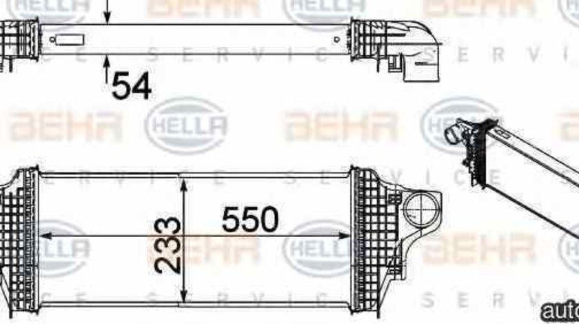 Radiator intercooler MERCEDES-BENZ M-CLASS W164 HELLA 8ML 376 754-611
