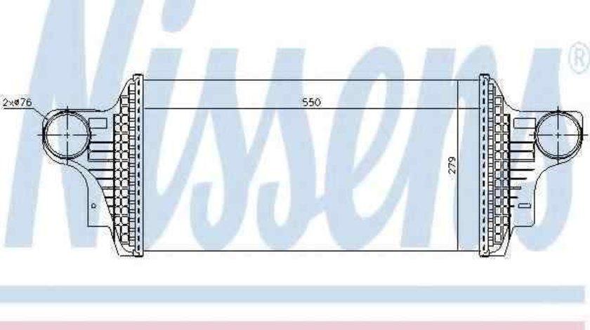 Radiator intercooler MERCEDES-BENZ M-CLASS (W164) NISSENS 96438