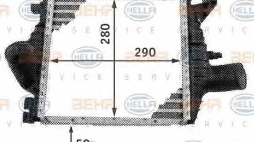 Radiator intercooler MERCEDES-BENZ VITO bus 638 HELLA 8ML 376 724-121