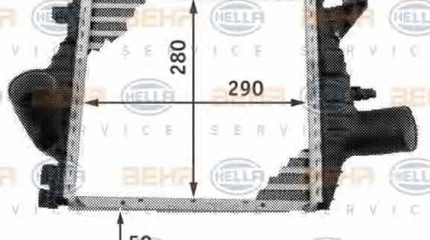 Radiator intercooler MERCEDES-BENZ VITO caroserie 638 HELLA 8ML 376 724-121