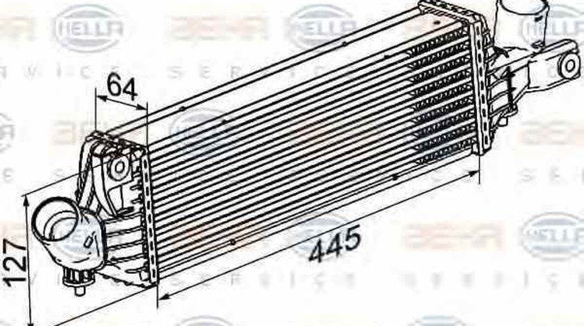 Radiator intercooler NISSAN ALMERA II Hatchback N16 HELLA 8ML 376 777-081