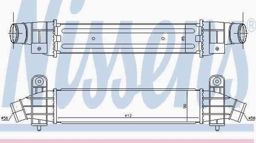 Radiator intercooler nissens pt ford mondeo 3