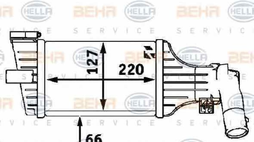 Radiator intercooler OPEL ASTRA G combi F35 HELLA 8ML 376 723-181