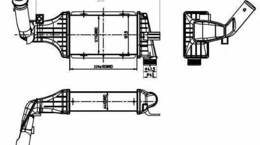 Radiator intercooler OPEL ASTRA G combi F35 NRF 30428