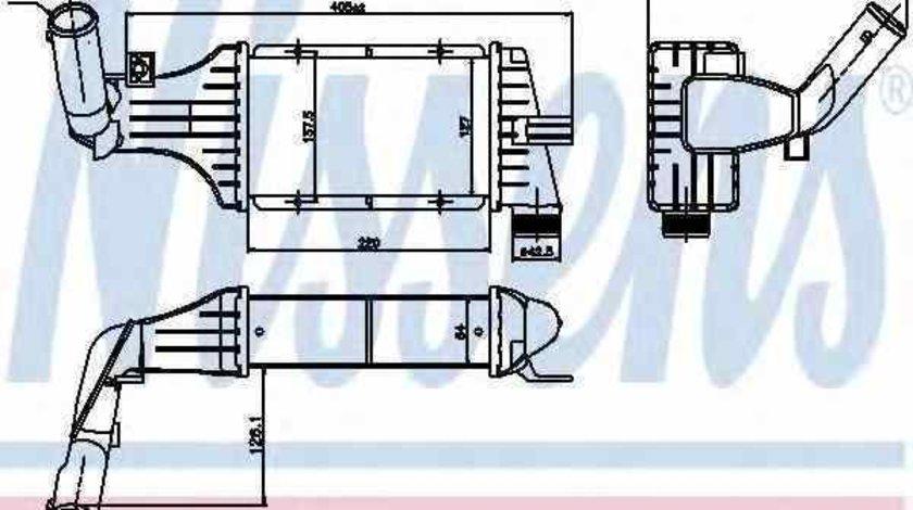 Radiator intercooler OPEL ASTRA G combi F35 Producator NISSENS 96788