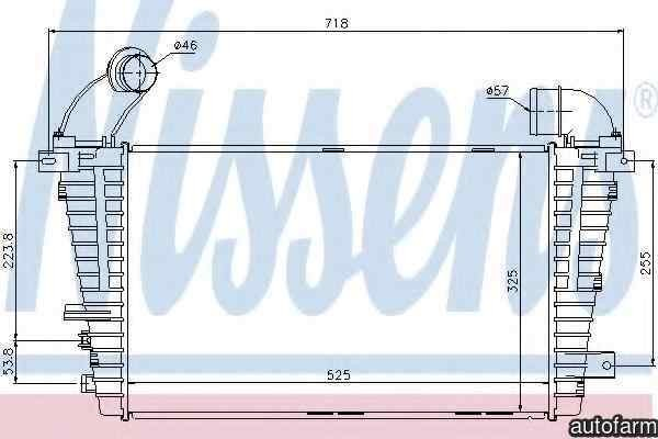 Radiator intercooler OPEL ASTRA H caroserie (L70) NISSENS 96590