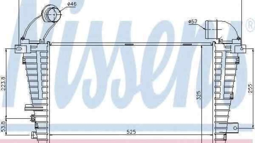 Radiator intercooler OPEL ASTRA H (L48) NISSENS 96590