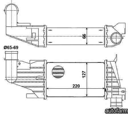 Radiator intercooler OPEL ASTRA H L48 NRF 30258