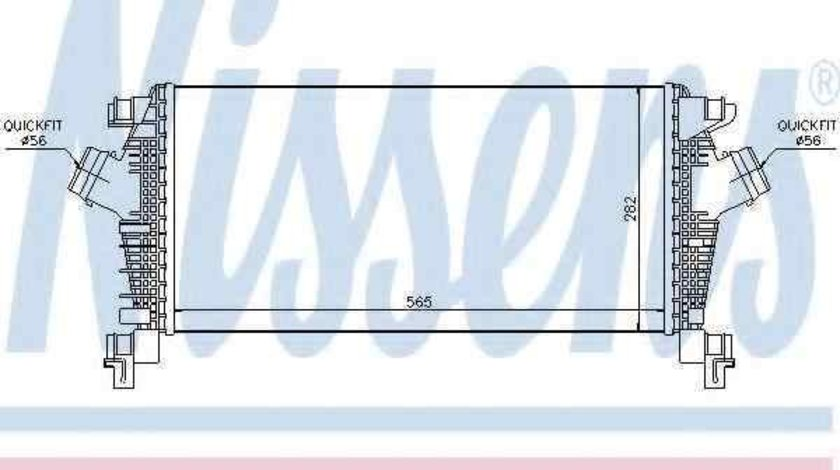 Radiator intercooler OPEL ASTRA J NISSENS 96556