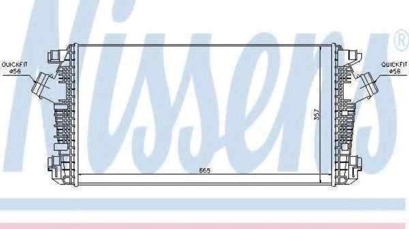 Radiator intercooler OPEL ASTRA J NISSENS 96557