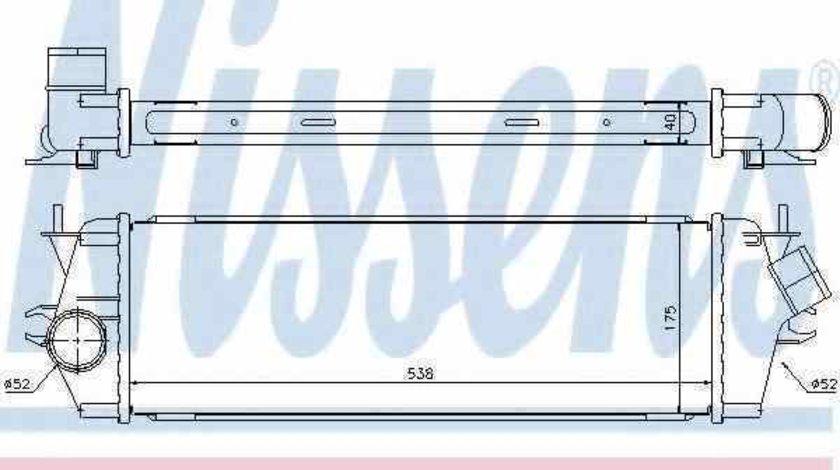 Radiator intercooler OPEL VIVARO caroserie F7 NISSENS 96583